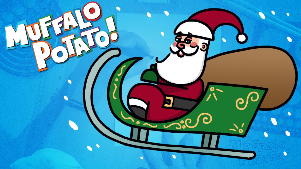 how to draw santas sleigh using letters and numbers with