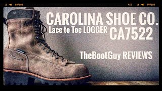 """CAROLINA 8"""" Waterproof Composite Lace-to-Toe Logger - CA7522 [ The Boot Guy Reviews ]"""