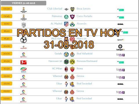 a1999944e2901 Partidos televisados hoy ⚽  futbol - YouTube