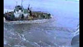 Melbourne Tug Boat Tips Over Towing Ship and Man Overboard