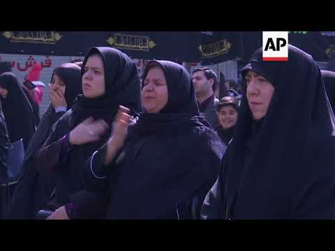 Iranian shiites mourn death of prophet's daughter