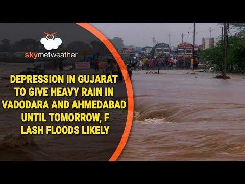 Depression in Gujarat to give heavy rain in Vadodara and Ahmedabad until tomorrow