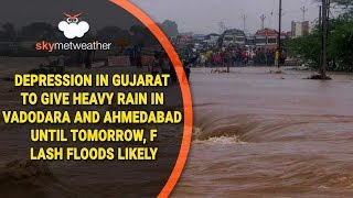 Depression in Gujarat to give heavy rain in Vadodara and Ahmedabad until tomorrow