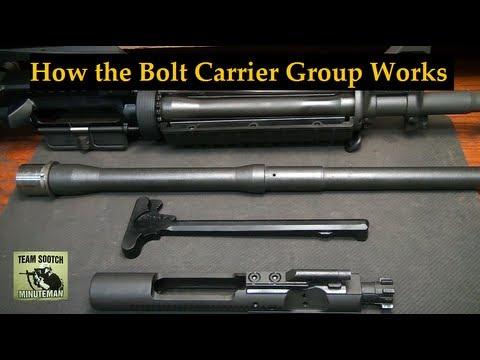 How the AR 15 Bolt Carrier Group Works