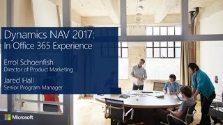 Dynamics NAV 2017, In Office 365 Experience