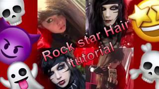 Andy sixx/rockstar/scene hair tutorial-how to do scene hair without the emo hair cut