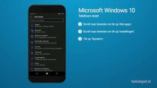 Tips & Tricks - Microsoft smartphone: Telefoon reset (Windows 10)