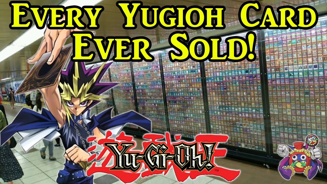 All Cards On One Card - Konami shows off every yu gi oh card ever sold all in one place epic walls of cards 2016
