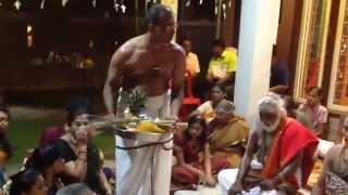 2014 Kandha Sashti, Dr. K Pitchai Gurukkal, Pillayarpatti, Sankalpam & Blessing, 27 Oct 2014