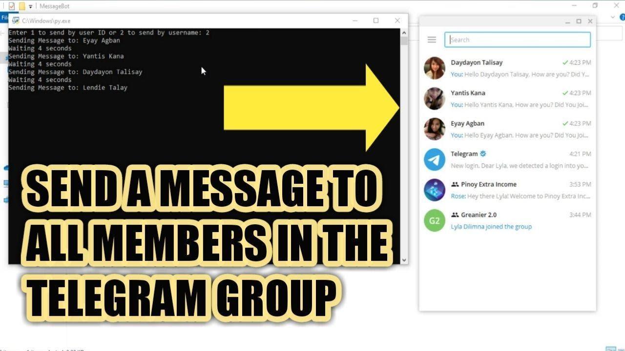 BULK MESSAGE SEND TO ALL MEMBERS IN TELEGRAM GROUP