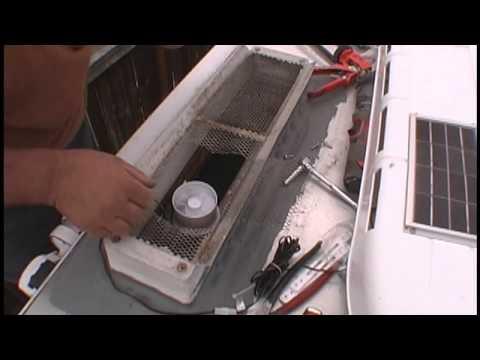 Truck Camper Replacement Fridge Vent Cap With Solar Fan
