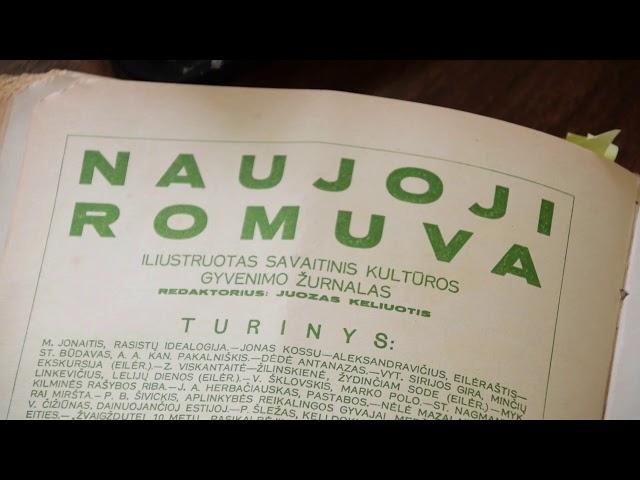 """EKSPONATAI - SIMBOLIAI: 1933 metų žurnalo """"Naujoji Romuva"""" komplektas"""