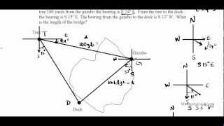 Application of the Law of sines and Cosines Pt I PrU6L5 Bearing Navigation Compass