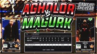NBA 2K17 • GAME OF THE YEAR ⁉️ • AGHOLOR VS MAGURKK 😱 • CAMEBACK DOWN 12-0 🔥