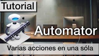 Tutorial de Automator en Mac | Introducción completa fácil en español