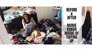 BEFORE & AFTER || THE LIFE CHANGING MAGIC OF TIDYING UP || MARIE KONDO KONMARI METHOD