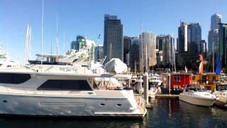 Красивый порт в Ванкувере