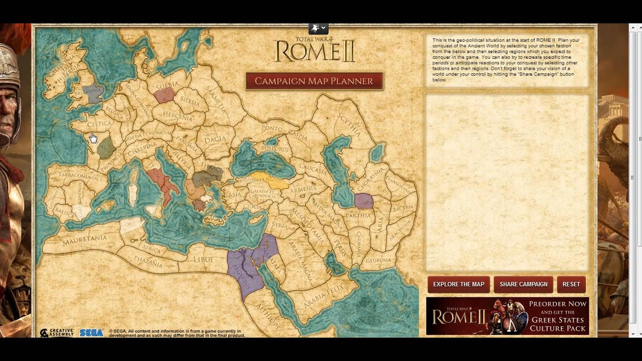 Total War Rome 2 Interactive Campaign Planner YouTube – Interactive Travel Map Planner