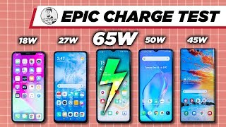 FULL Charge in under 30 Mins - Insane!!! Epic Charging Comparison (Reno Ace 65w, X2 Pro 50w...)