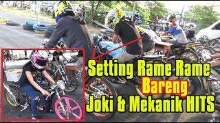 SETTING RAME RAME Bareng Team, Mekanik & Pembalap Ternama indonesia di sirkuit GDS