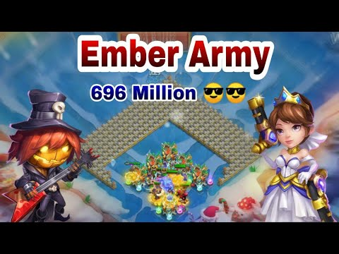 Ember Army | 696 Million | Full Set Up About Hero |  Top-10* | Castle Clash