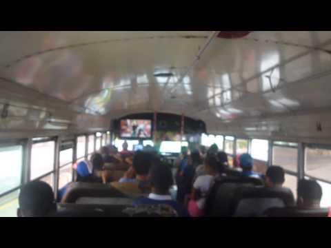panama crew sonando en el bus