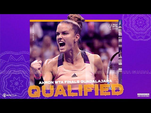 Maria Sakkari will make her debut at the 2021 WTA Finals