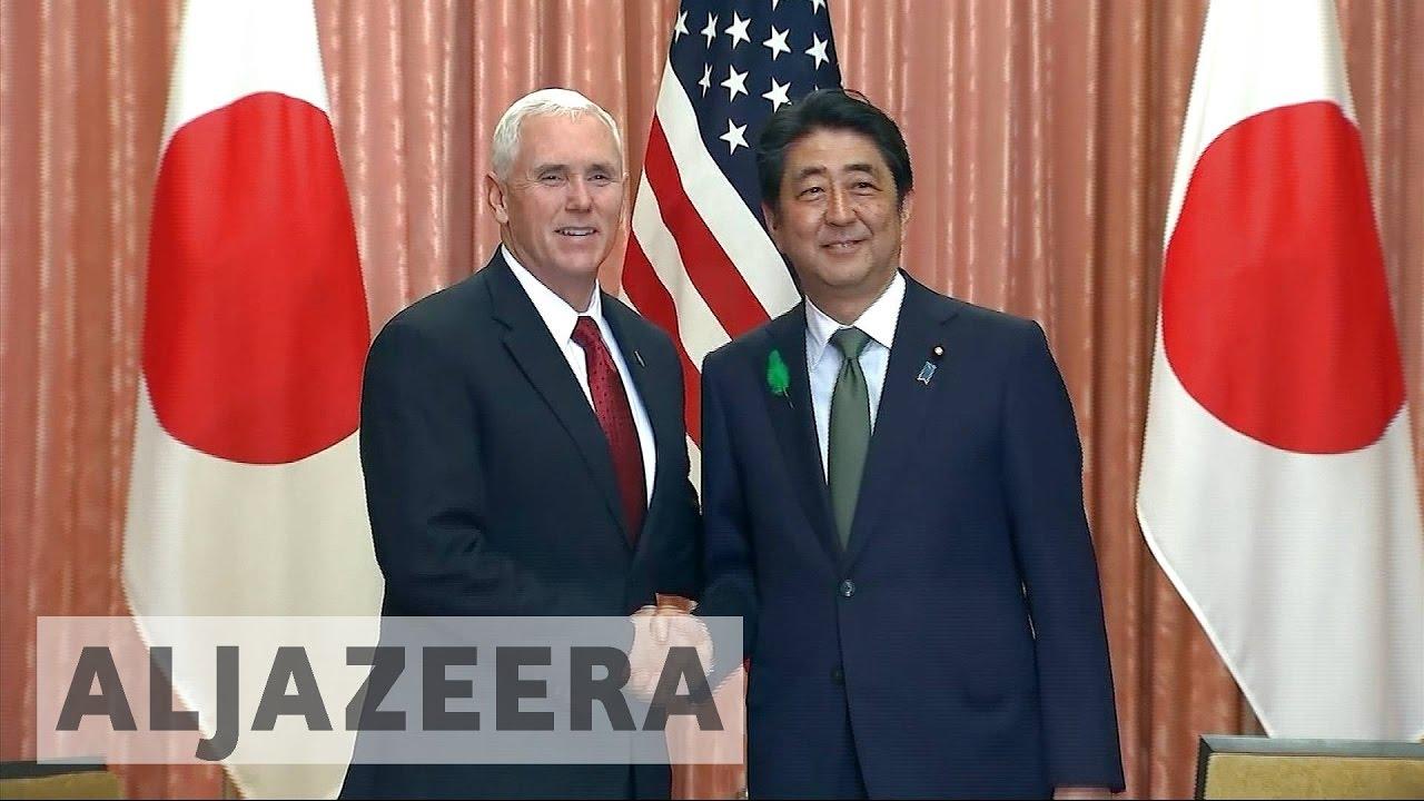 N  Korea tension dominates Pence's Japan visit