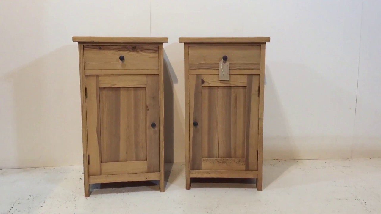 Pair of antique pine bedside pot cupboards pinefinders for I furniture warehouse