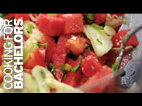 Watermelon Tomato Salad by Cooking for Bachelors® TV
