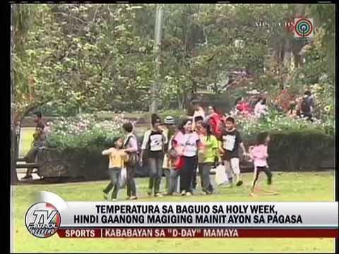 Mga turista sa Baguio, dumadagsa na para sa Semana Santa