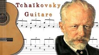 TCHAIKOVSKY - Fingerstyle Arpeggio Guitar (Chanson Antique Française)