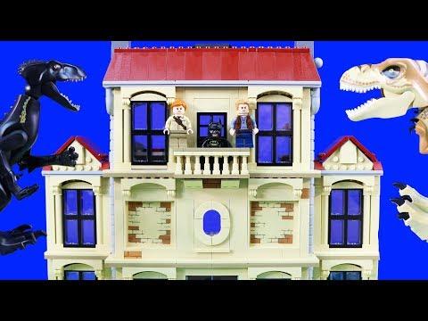 Lego Jurassic World Fallen Kingdom Toy Adventure Owen & Batman Rescue The Dinosaurs