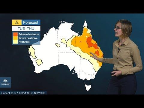 ⚠ Severe Weather Update: Heatwave in Queensland, 12 February 2018