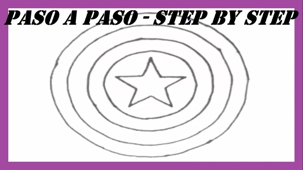 Como Dibujar El Escudo Del Capitan America L How To Draw Captain
