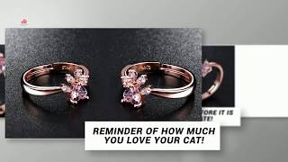 Cat Ring Gold - amazing cat ring, Gold cat rings, silver cat rings