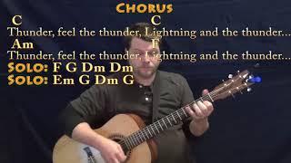 Thunder (Imagine Dragons) Guitar Lesson Chord Chart with Chords/Lyrics