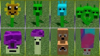 Plants vs. Zombies 2 Minecraft Mod 100%: ALL PLANTS vs ZOMBIES!