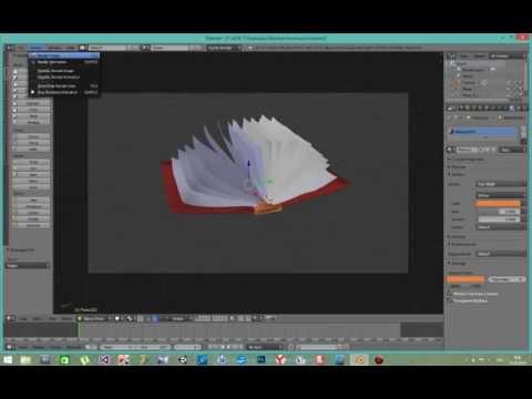 Blender  - Текстурирование и анимация книги  2