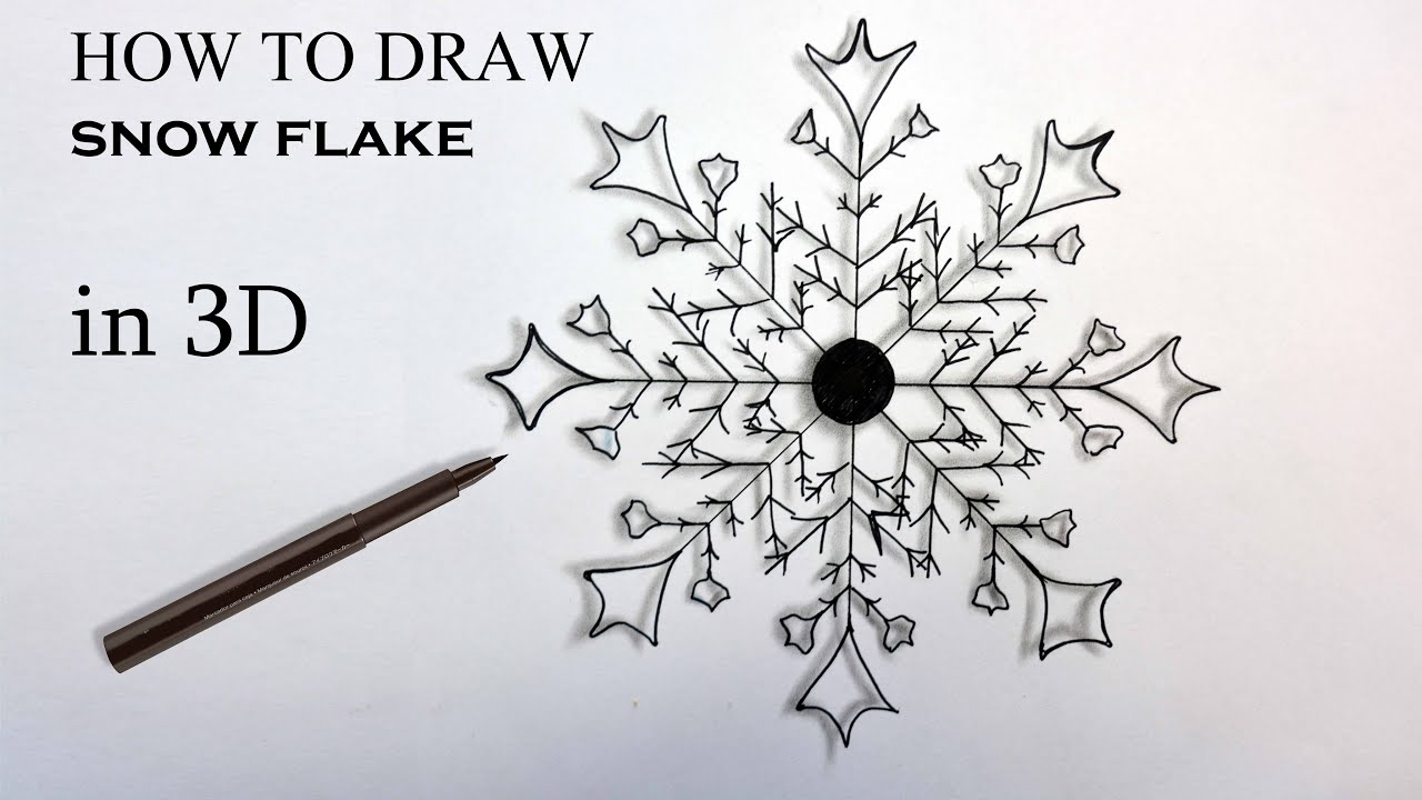 How to draw snow 49