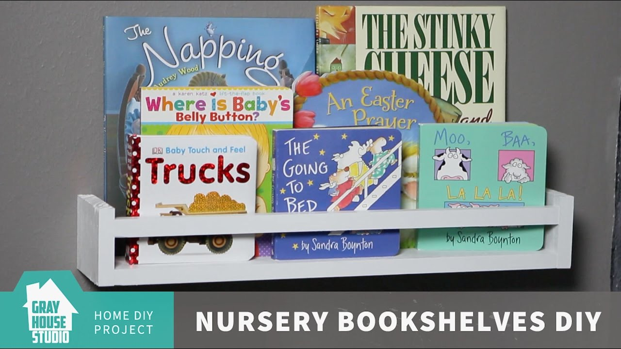 Nursery Bookshelves DIY
