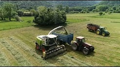 Ensilage herbe 2020 - Comminges - Haute Garonne (31) drone