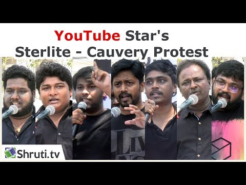 🔴 [Live]  | YouTube Star's Sterlite - Cauvery Protest | PARITHABANGAL, Tamiltalkies, Black Sheep