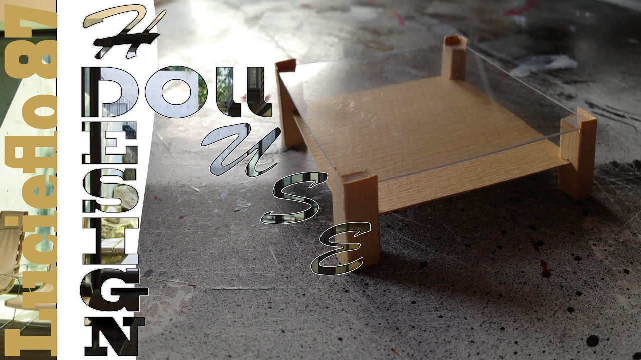 Diy doll house creer une table basse 01 youtube - Creer sa table basse ...