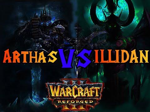 Артас против Иллидана Warcraft 3 Reforged Синематик
