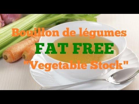 How To Make A Bouillon De Légumes - Fat Free Vegetable Stock