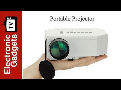 1080p Mini LED Projector with LED Lamp, 150 Lumens, HDMI Port