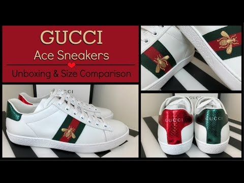 46b86d90d Gucci 2018 Ace Embroidered Bee Sneakers | Unboxing & Review | Size  Comparison - YouTube