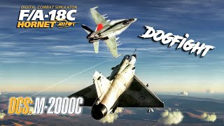 DCS: How the F/A-18C Hornet Can kill the Mirage 2000C in a Dogfight.