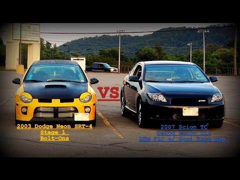 Scion Tc Turbo >> Turbo Scion TC vs Dodge Neon SRT4 - YouTube